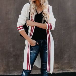 VICI Collection Bayside Striped Cardigan